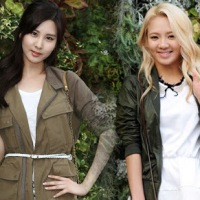 Girls' Generation's Seohyun and Hyoyeon at Kolon Sports' Fashion Event