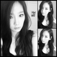 Girls' Generation's TaeYeon and her lovely set of black and white SelCa pictures