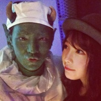 SNSD's TaeYeon revealed some cute photos from SMTown's Halloween Party!