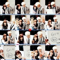 SNSD's TaeYeon snapped photos with SHINee's Jonghyun at M!Countdown's Backstage