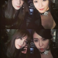 SNSD's TaeYeon and Tiffany posed for a pair of lovely SelCa pictures