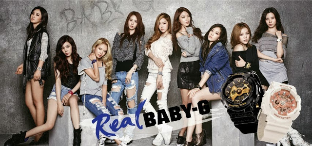 c4a83ec235 Girls' Generation and more of their photos for Casio's 'Baby-G ...
