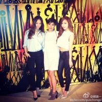 SNSD's Jessica and f(x)'s Krystal at Jimmy Choo's Event